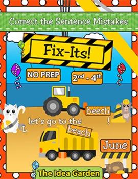 June Fix-Its - Correct the Sentences NO PREP (2nd-4th)