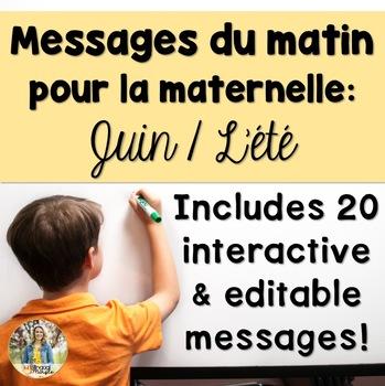 June French Morning Messages/Messages du matin: juin