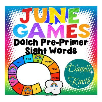 June Games - Dolch Pre-Primer Sight Words