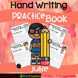 June Hand Writing Practice Book