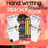 June Hand Writing Practice Book Freebies