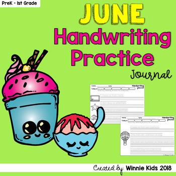 June Handwriting Practice Journal