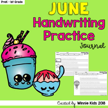 June Handwriting Practice Journal