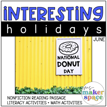 June Holidays National Donut Day