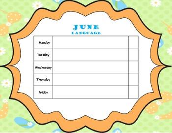 June Home Program (Elementary Language)