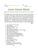 June Homework Activity Checklist