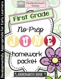 June Homework Packet: 1st Grade