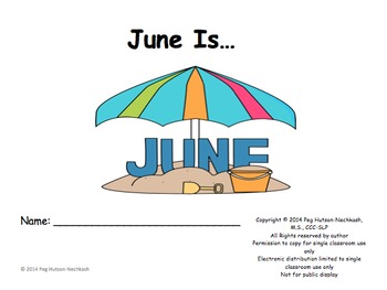 June Is: Interactive Book for Older Students
