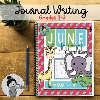 Writing Prompts Animal Theme Grades 2-3 (June/August)