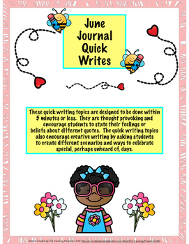 June Journal Quick Writes