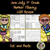 June-July 1st Grade Number Fluency 1-120 Review Cut and Paste