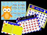 June & July Calendar for ActivBoard