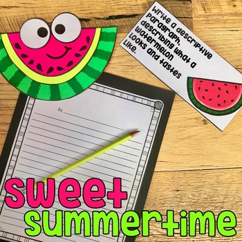 June/July Craftivity With Writing: 8 PRINT & GO CRAFTS!