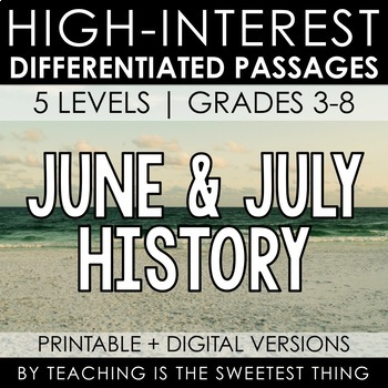 June / July Summer Passages: History