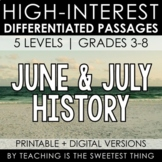 June & July Summer Passages: History - Distance Learning C