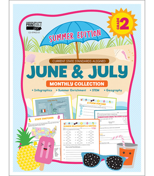 June & July Monthly Collection, Grade 2 Printable   9781483849270