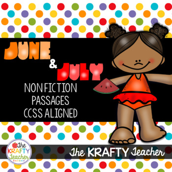 June & July Non-Fiction Passages for 2nd & 3rd Summer School, Camping, Fireworks