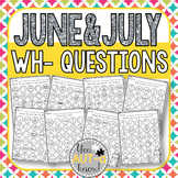 June & July WH- Question Dauber Pages