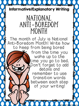 June/July Writing- Common Core Aligned