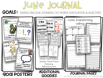 June Kindergarten Adding Dialogue to a Story Print & Go Writing Journal