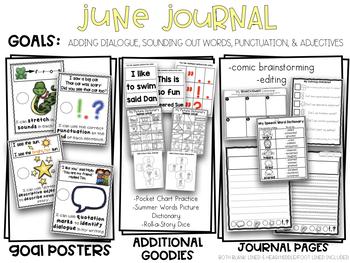 Kindergarten Writing Journal June Adding Dialogue