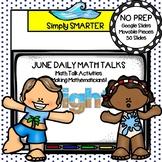 June Kindergarten Digital Daily Math Talks For GOOGLE SLIDES