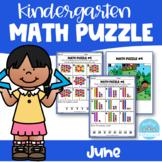 June Kindergarten Math Puzzle