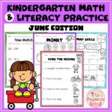 June Kindergarten Math and Literacy Practice