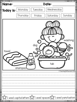 June Kindergarten Writing Activities