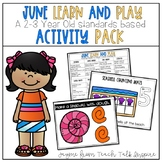 June Learn and Play Toddler Activity Packet-Toddler Activities