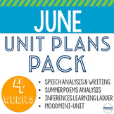 June Lesson Plans and Units - Bundle of 4 fun units to tea