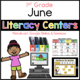 June Literacy Center Menu 1st Grade