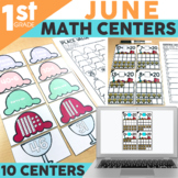 June Math Centers & Activities for 1st Grade