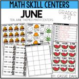 June Math Centers (Grades 3-5)