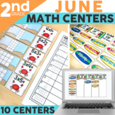 June Math Centers and Activities for 2nd Grade