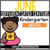 June Math Centers for Kindergarten