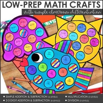 June Math Crafts (Differentiated)