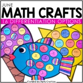 June Math Crafts: Sun, Fish, and Ice Cream Craftivity / End of Year Activity