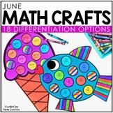 June Math Crafts: Sun, Fish, and Ice Cream Craftivity / En