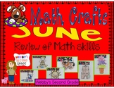 June Math Crafts An End of the Year Math Skills Review