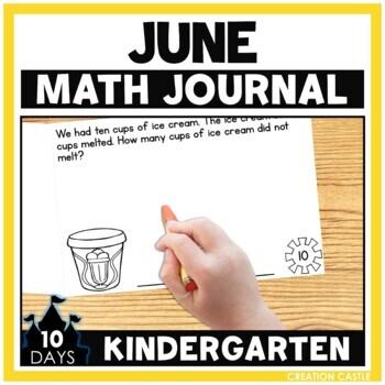 June Kindergarten Math Journal
