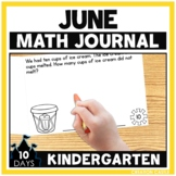 June Kindergarten Math Journal