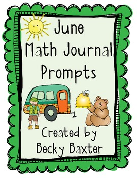 June Math Journal Prompts- Kindergarten C.C.