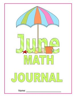 June Math Journal to fit CCSS Base Ten/Geometry/Time, Measurement and Fractions