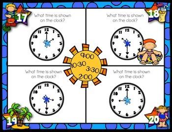 June Math Mats {first grade}
