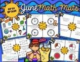 June Math Mats {first grade}