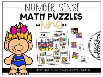 June Math Number Sense Puzzles