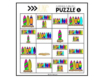 June Math Number Sense Puzzles