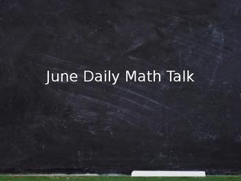 June Math Talks