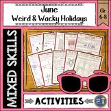 Summer Math June Weird and Wacky Holidays